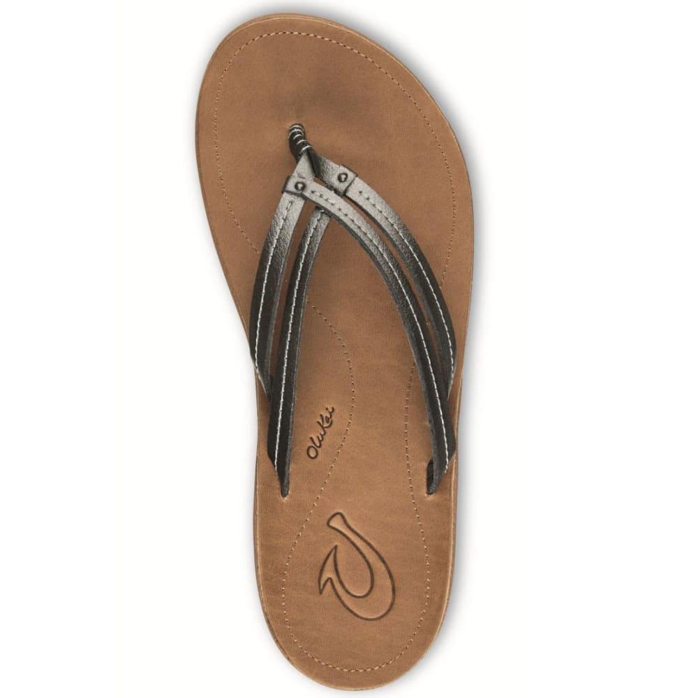 OLUKAI Women's U'i Sandals - PEWTER