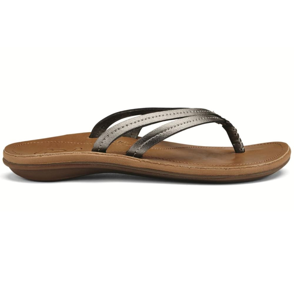 OLUKAI Women's U'i Sandals - PEWTER