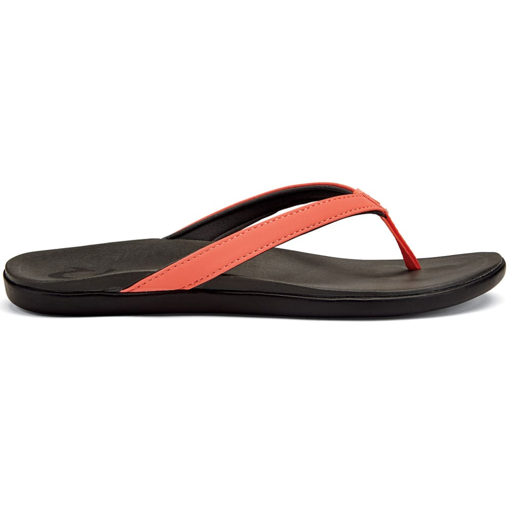 OLUKAI Women's Ho'opio Sandals - CORAL/DARK SHADOW