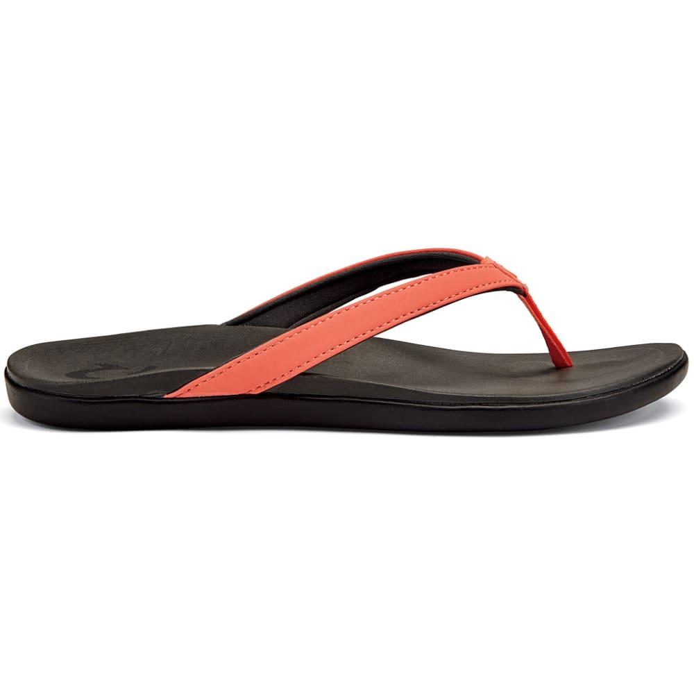 OLUKAI Women's Ho'opio Sandals - CORAL/DARK SHADOW