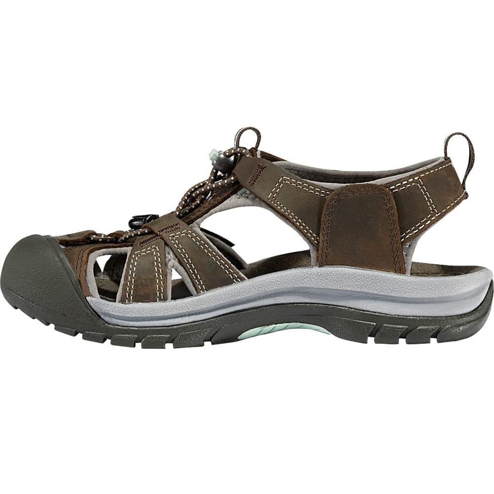 KEEN Women's Venice Sandals, Black Olive/Surf Spray - BLACK OLIVE
