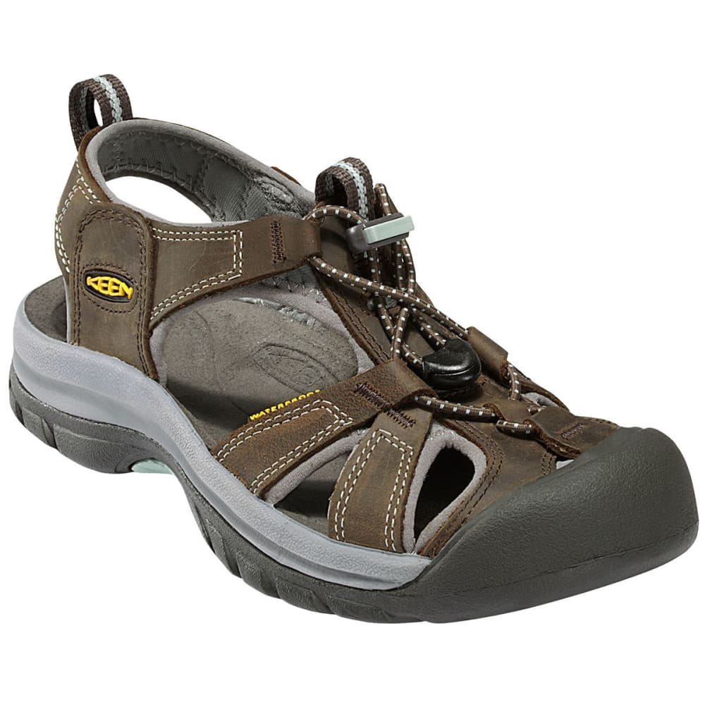 KEEN Women's Venice Sandals, Black Olive/Surf Spray - BLACK OLIVE