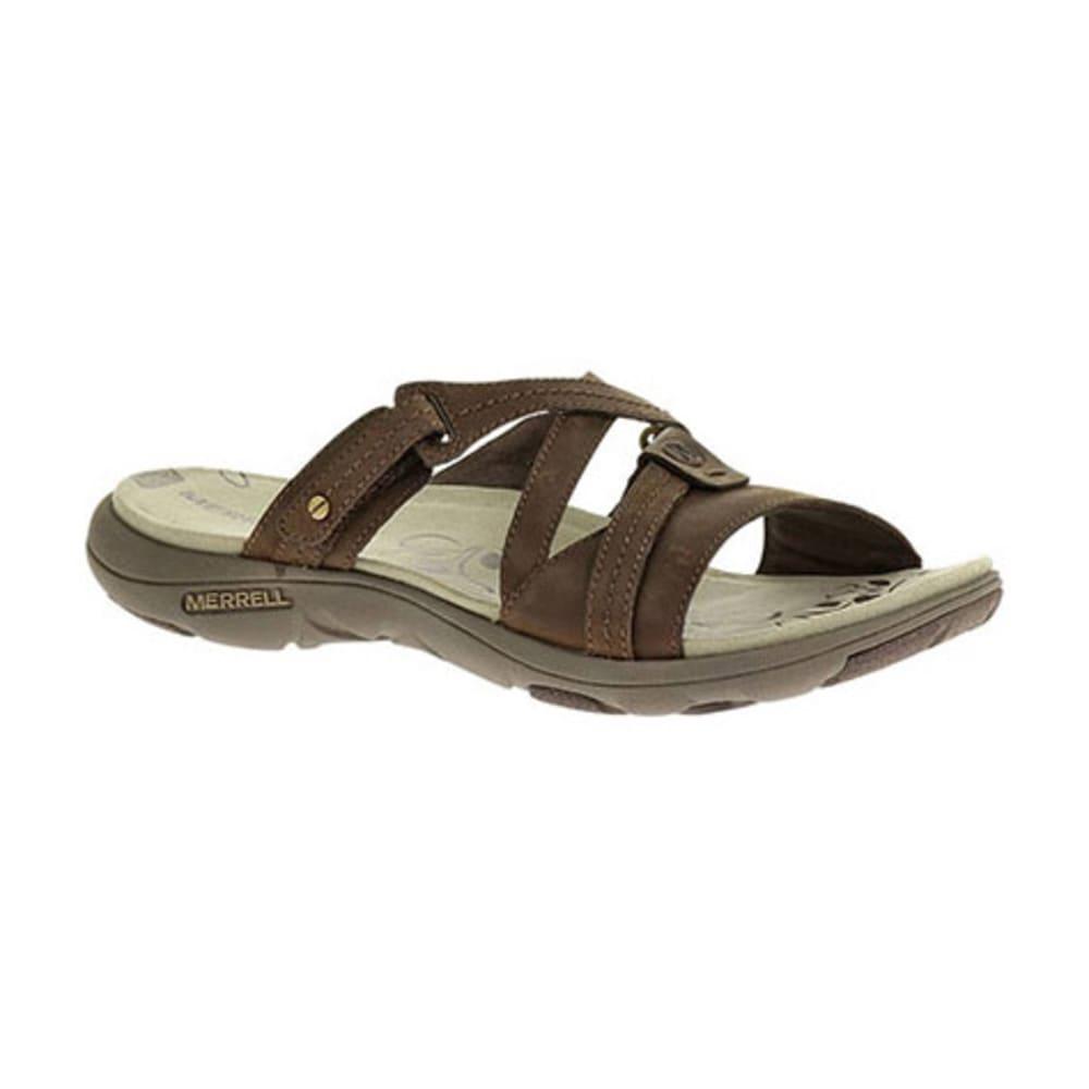 MERRELL Women's Sway Leather Sandals, Bracken - BRACKEN