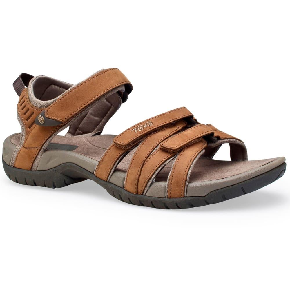 TEVA Women's Tirra Leather Sandals, Rust - RUST