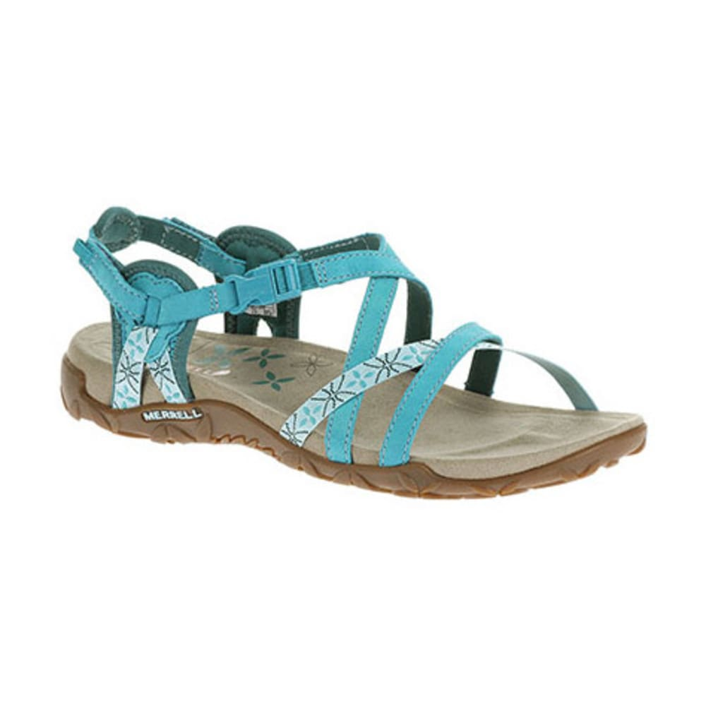 60f3f0b563ba MERRELL Women  39 s Terran Lattice Sandals - ALGIERS BLUE