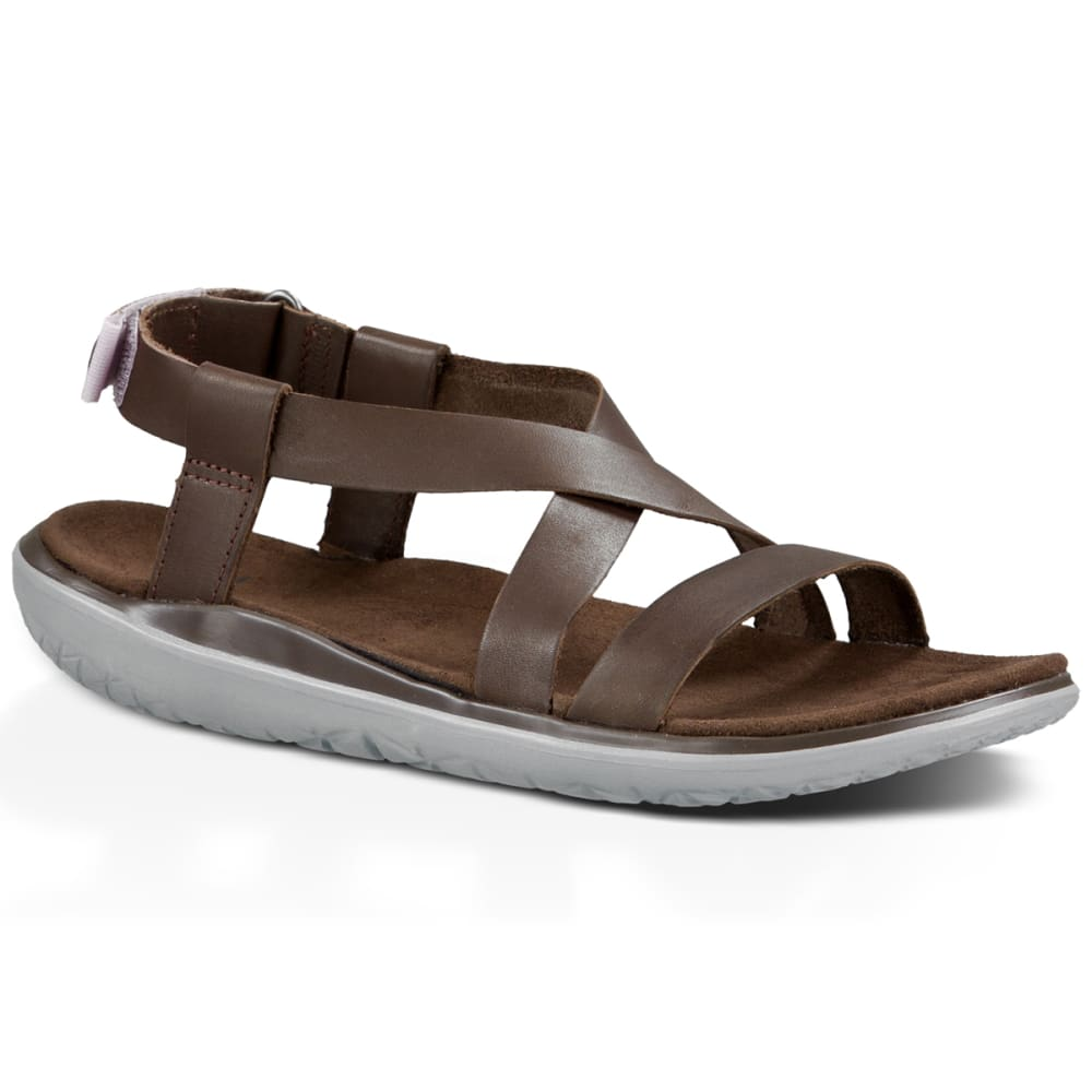 b05b421f78f726 TEVA Women  39 s Terra-Float Livia Lux Sandals - BROWN