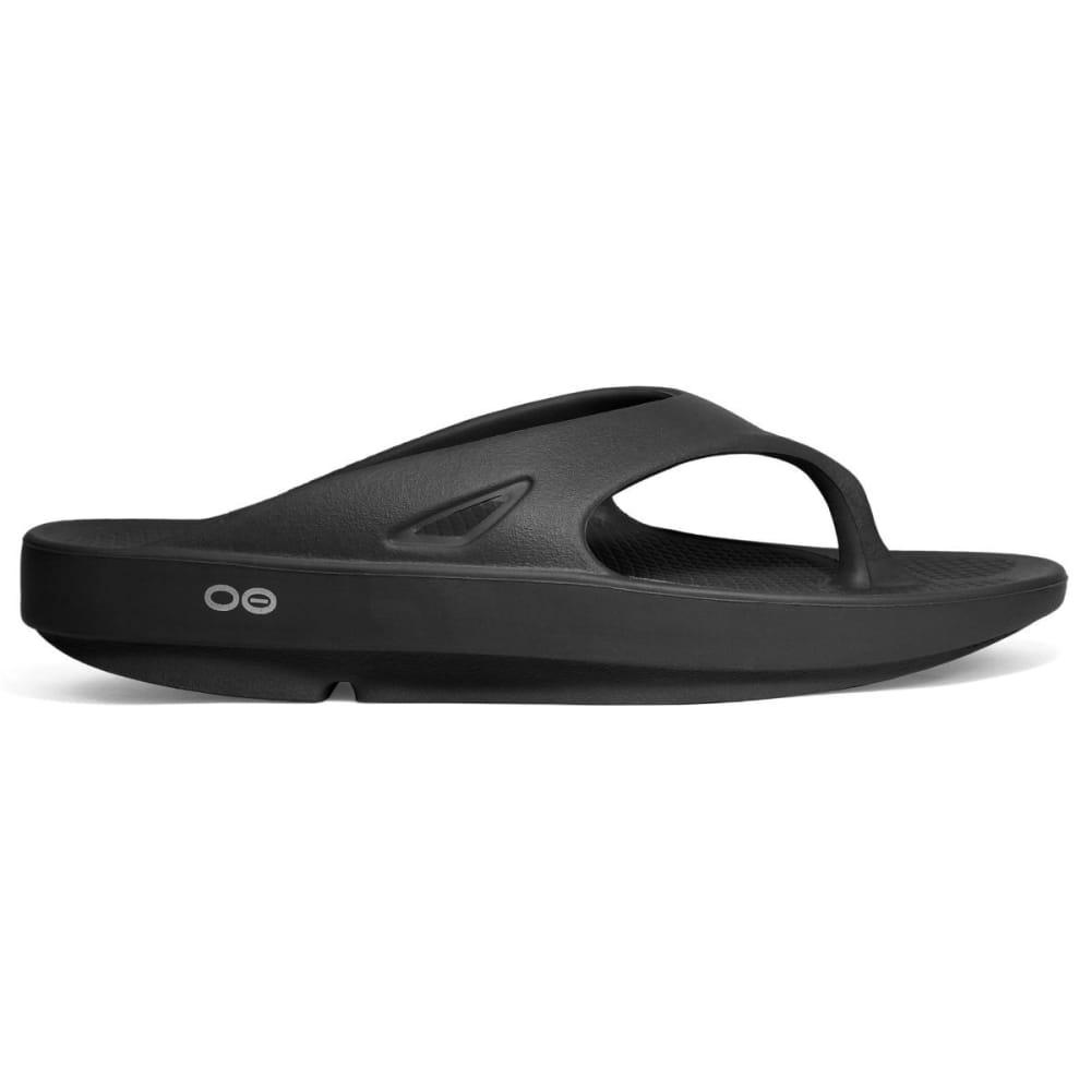 OOFOS Unisex Ooriginal Thong Sandals, Black - BLACK
