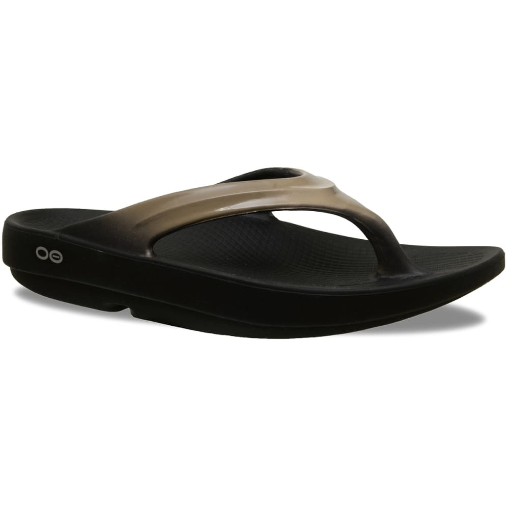 OOFOS Women's OOlala Thong Sandals - LATTE