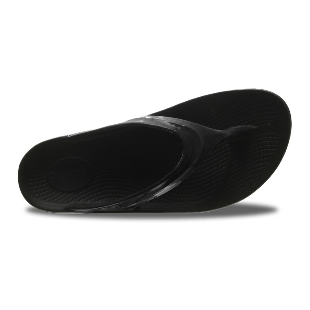 OOFOS Women's Oolala Thong Sandals, Black - BLACK