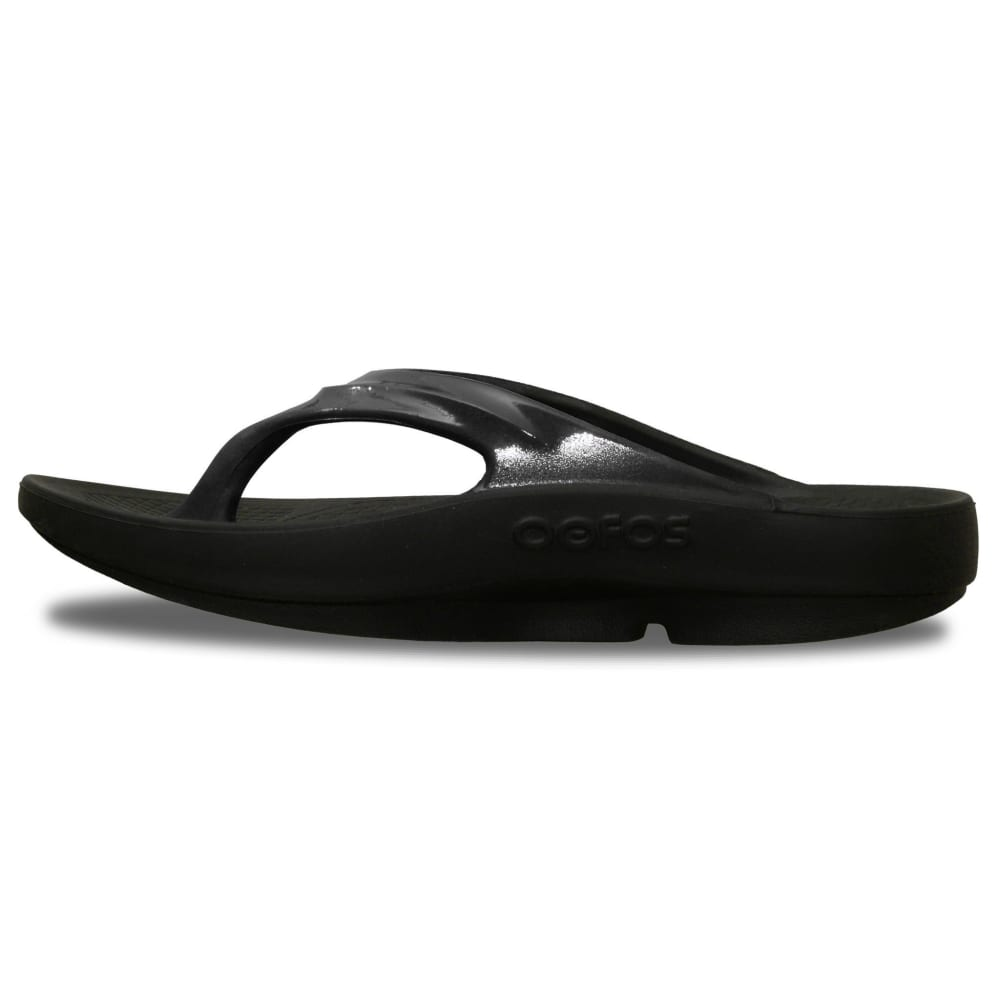 OOFOS Women's Oolala Thong Sandals - BLACK