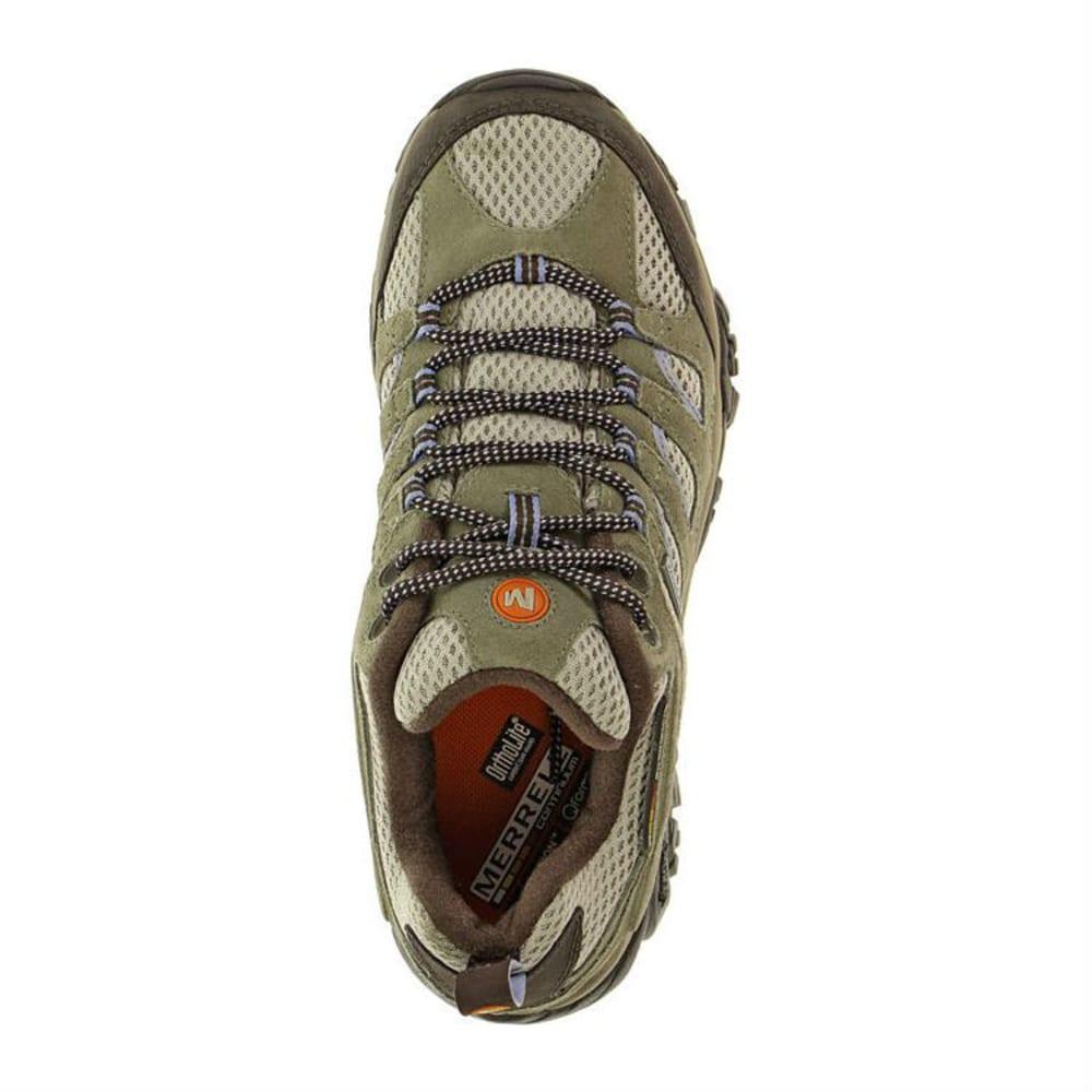 MERRELL Women's Moab WP Hiking Shoes, Dusty Olive - DUSTY OLIVE