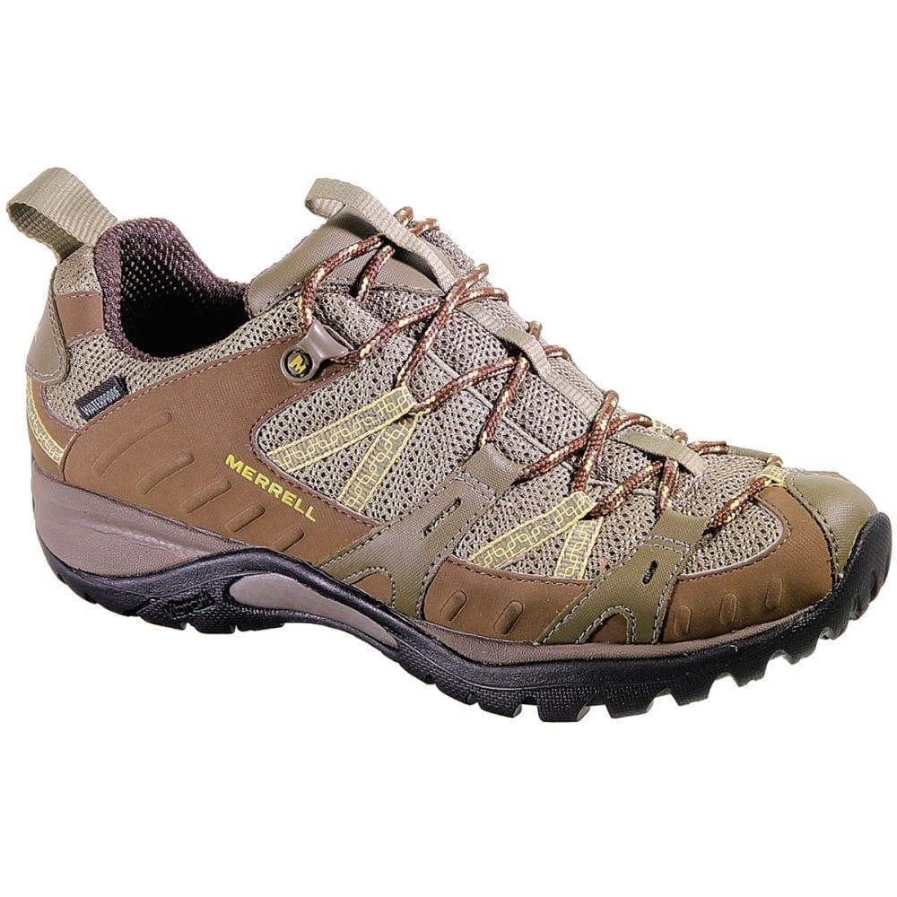 MERRELL Women's Siren Sport 2 Waterproof Hiking Shoes, Brindle, Wide - BRINDLE