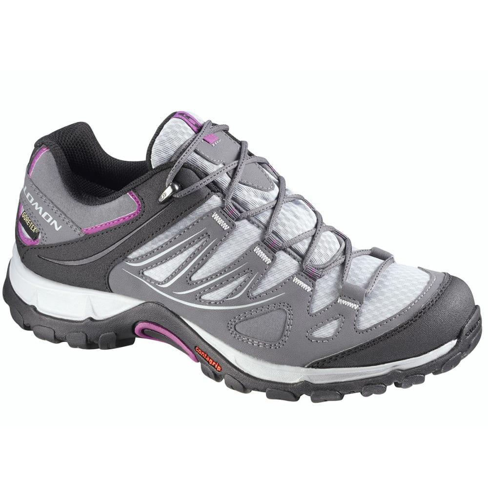 SALOMON Women's Ellipse GTX Hiking Shoes, Light OnixDark Cloud