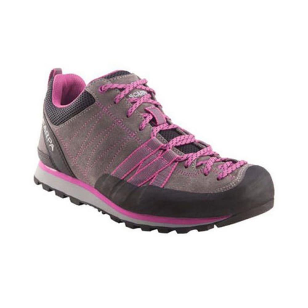 SCARPA Women's Crux Hiking Shoes, Mid Grey/Dahlia - GREY
