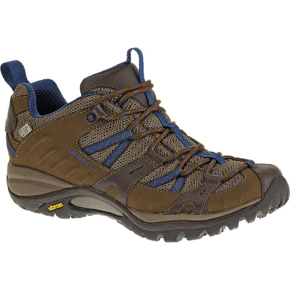 MERRELL Women's Siren Sport 2 WP Hiking Shoes, Merrell Stone/Blue - STONE BLUE
