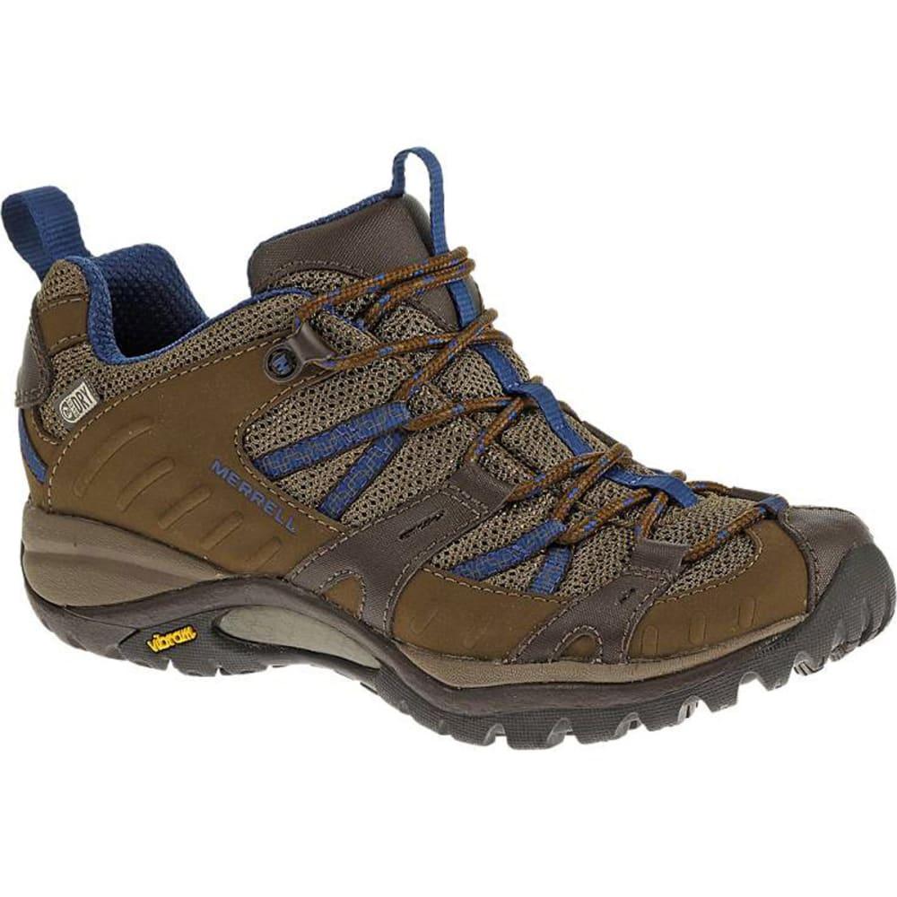 MERRELL Women's Siren Sport 2 WP Hiking Shoes, Merrell Stone/Blue - STONE BLUE