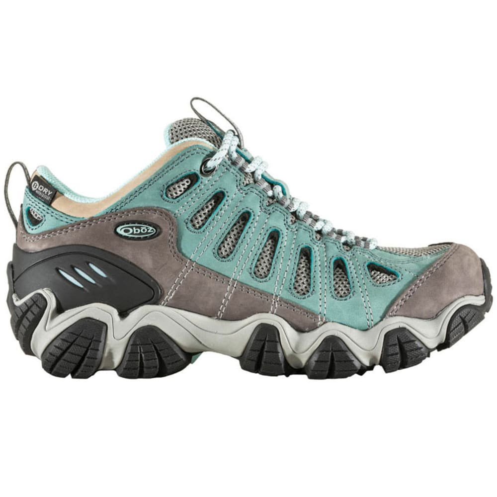 OBOZ Women's Sawtooth Low BDry Waterproof Hiking Shoes, Mineral Blue - MINERAL BLUE