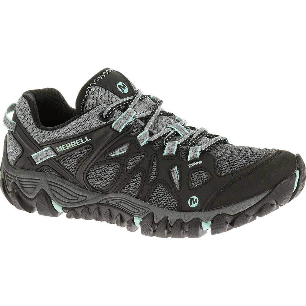 MERRELL Women's All Out Blaze Aero Sport Hiking Shoes, Black/ Adventurine - BONE