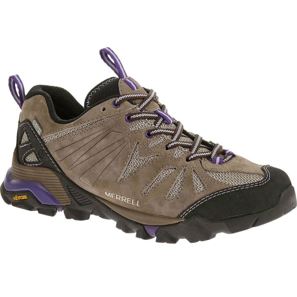 MERRELL Women's Capra Waterproof Hiking Shoes, Taupe - TAUPE