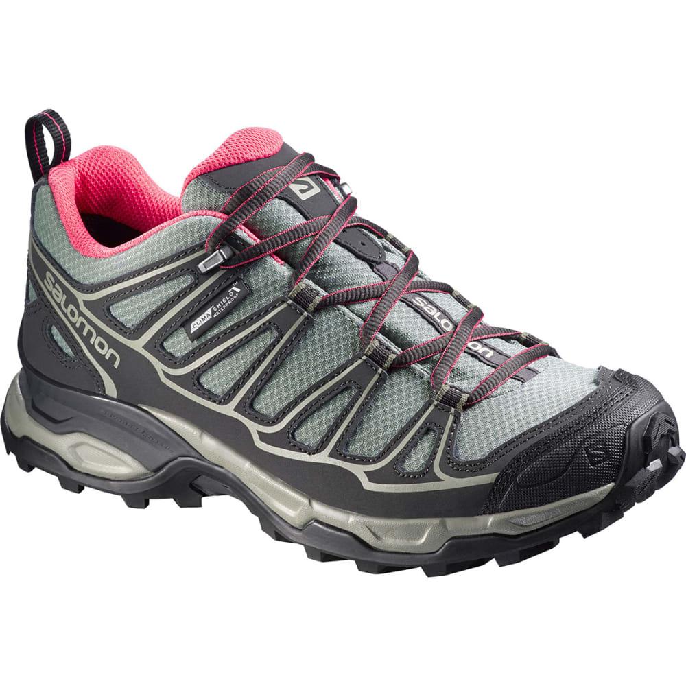 SALOMON Women's X Ultra Prime CS WP Hiking Shoes - ASPHALT