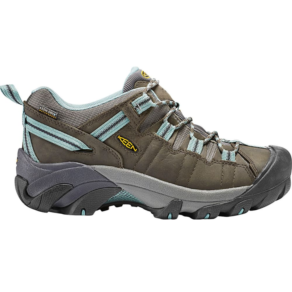 KEEN Women's Targhee II Waterproof Hiking Shoes, Black Olive/Mineral Blue - BLACK OLIVE