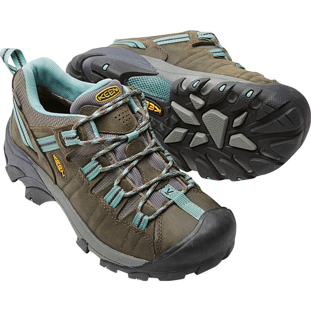 KEEN Women's Targhee II Waterproof Hiking Shoes, Black Olive/Mineral Blue - BLACK OLIVE