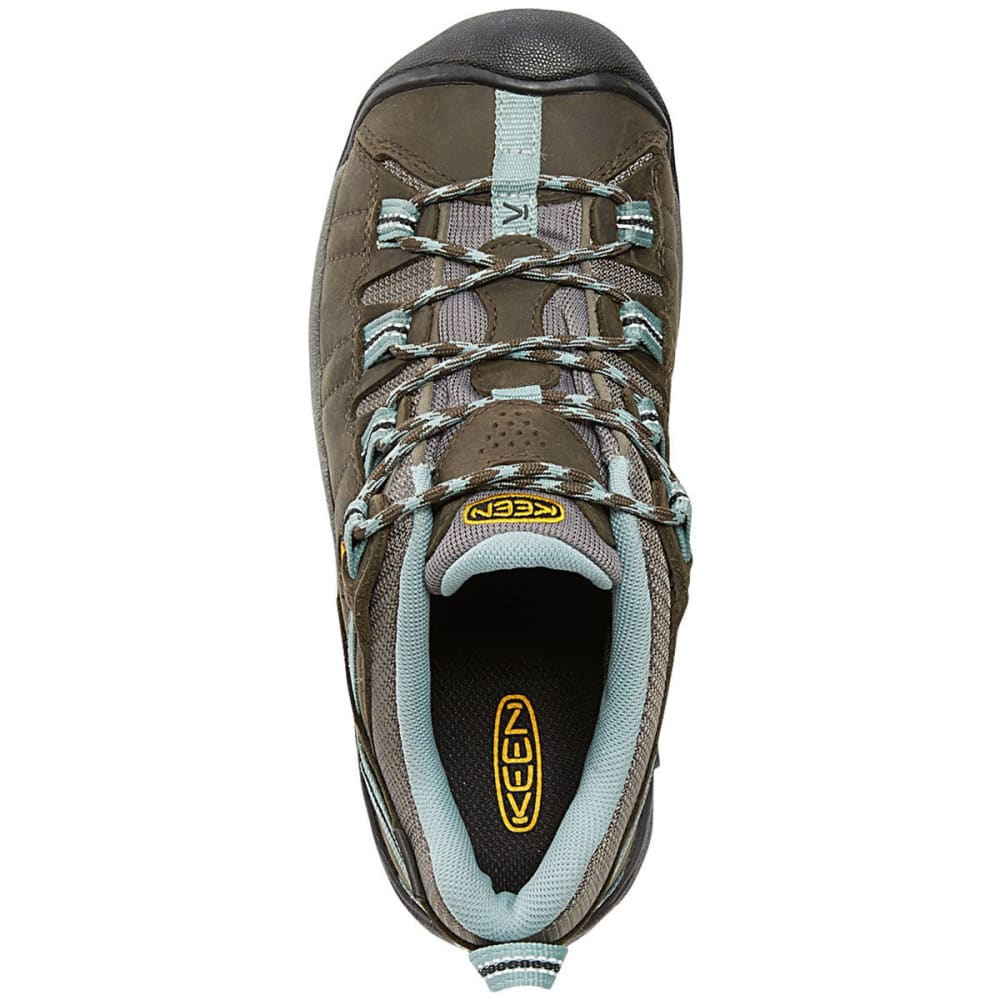 KEEN Women's Targhee II Waterproof Hiking Shoes - BLACK OLIVE