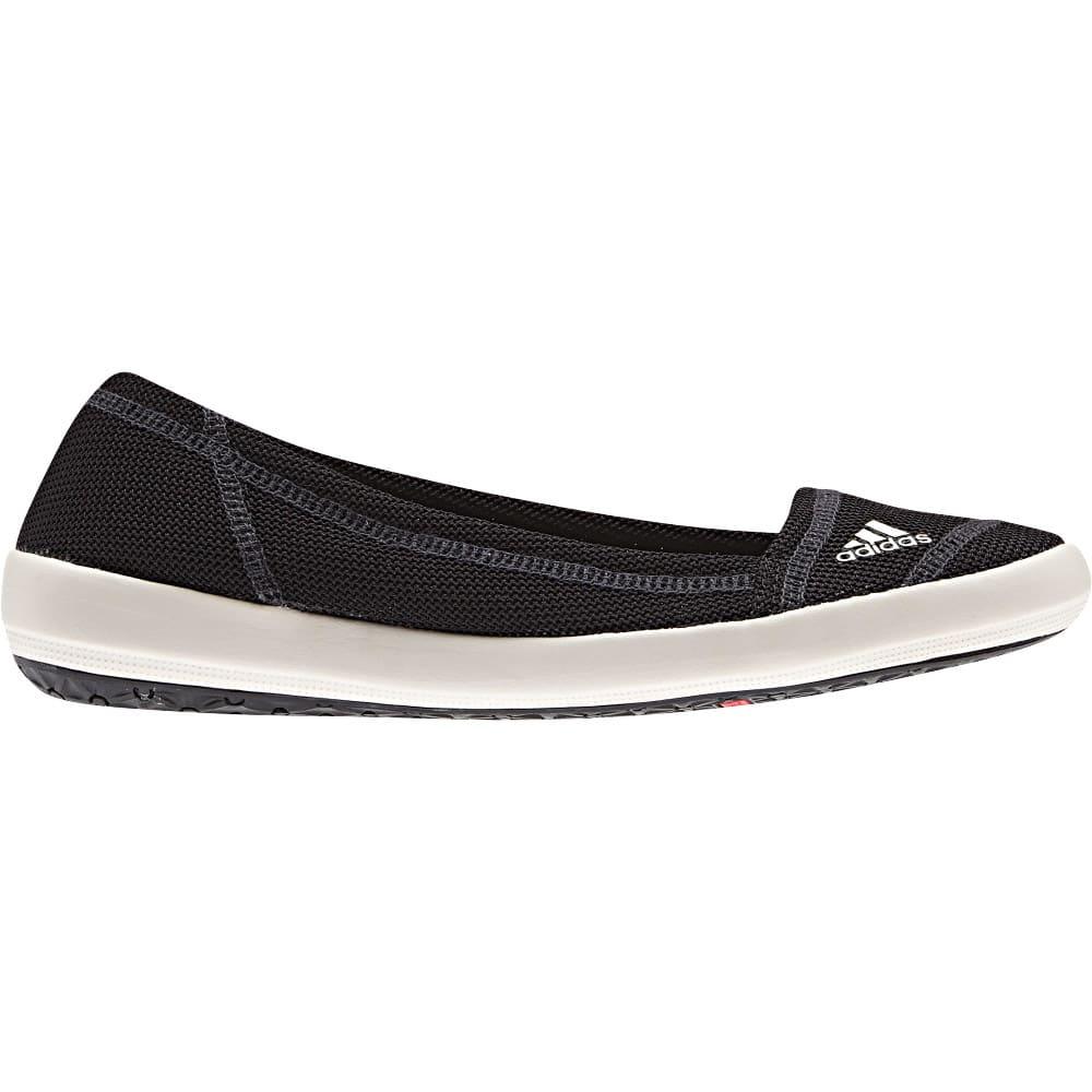 ADIDAS Womenu0026#39;s Boat Slip-On Sleek Shoes Black