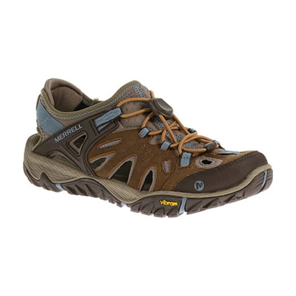 MERRELL Women's All Out Blaze Sieve Shoes, Brown Sugar/Blue Heaven - BROWN SUGAR/BLUE HEA