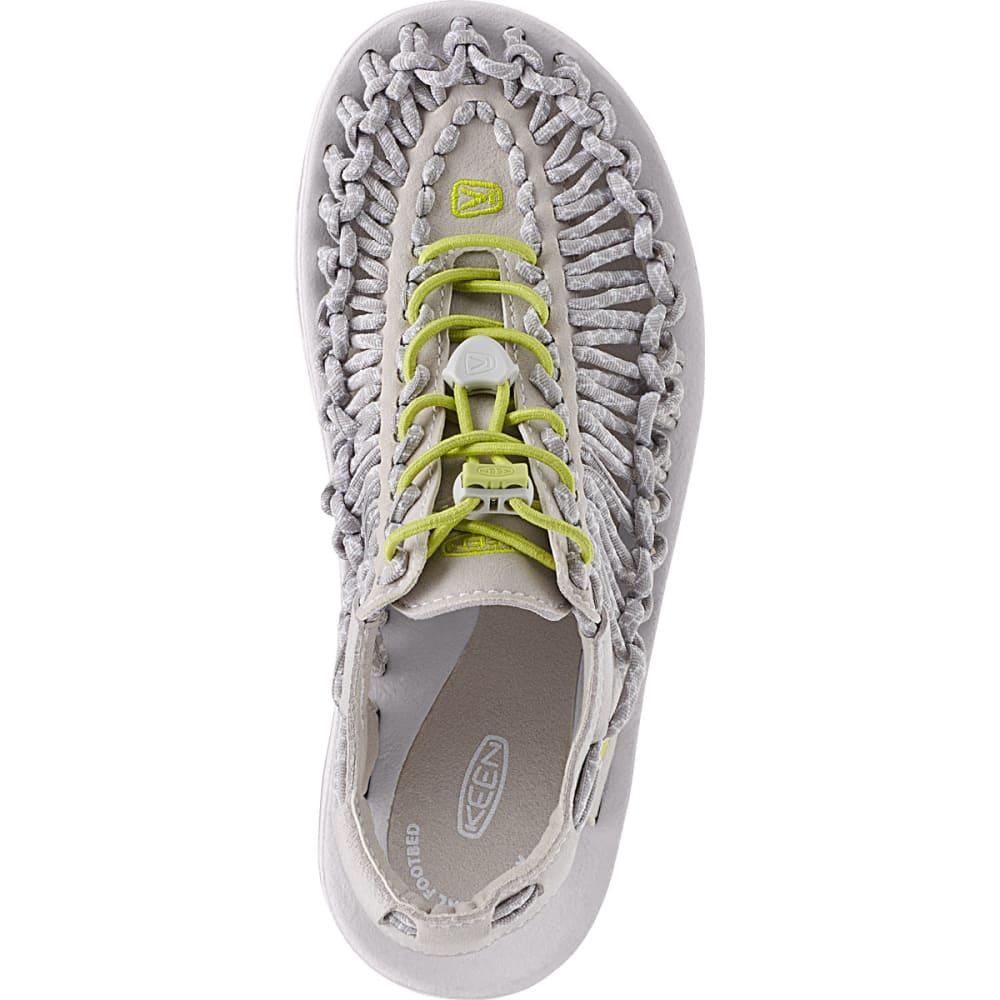 KEEN Women's Uneek Flat Cord Sandals, Vapor/Chartreuse - VAPOR