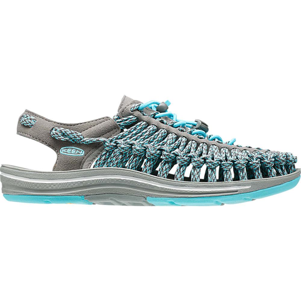 KEEN Women's Uneek Flat Cord Sandals, Capri/Camo - CAPRI