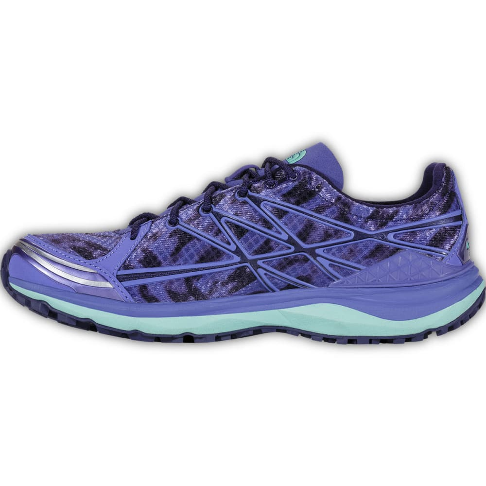 THE NORTH FACE Women's Ultra TR II Running Shoes, Blue Iris/Surf Green - BLUE