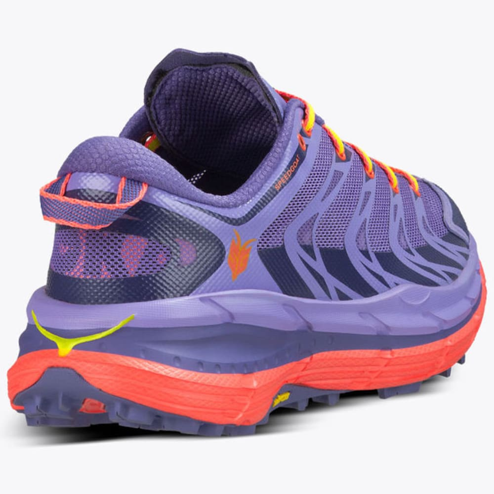 HOKA ONE ONE Women's Speedgoat Trail Running Shoes, Corsican Blue/Neon Coral - CORSICA