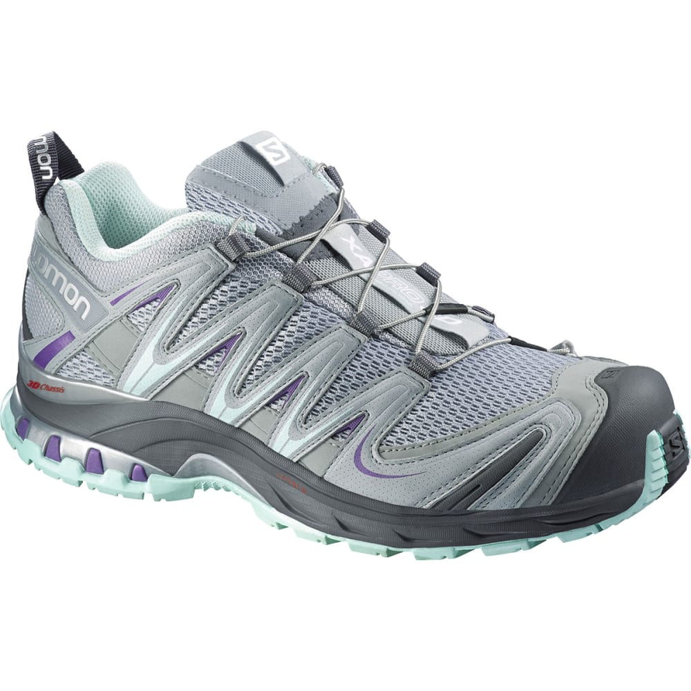 SALOMON Women's XA Pro 3D Trail Running Shoes - LT GREY