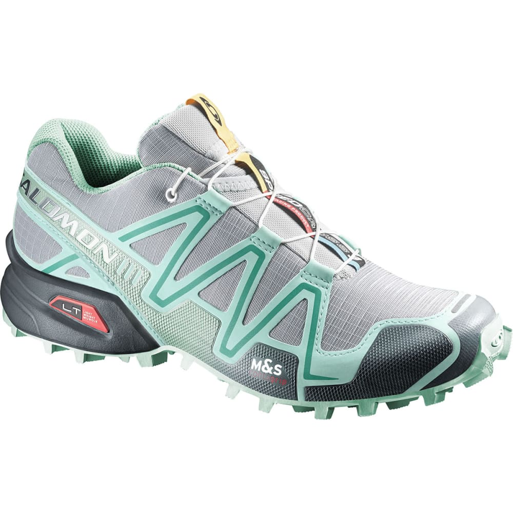 SALOMON Women's Speedcross 3 Trail Running Shoes, Light Onix - LT GREY