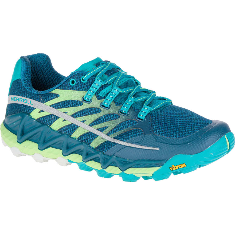 MERRELL Women's All Out Peak Running Shoes, Light Green - LT.GREEN