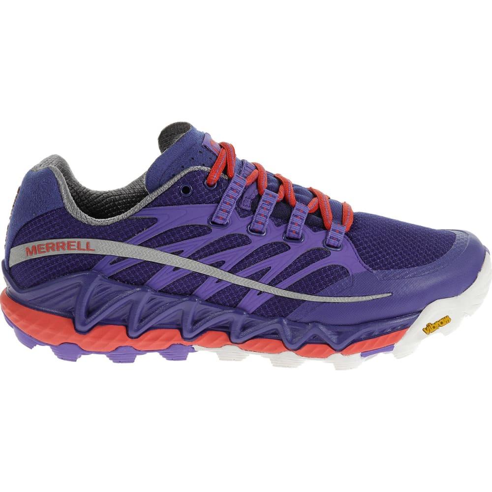 MERRELL Women's All Out Peak Running Shoes, Royal Blue/Orange - ROYAL BLUE/ ORANGE