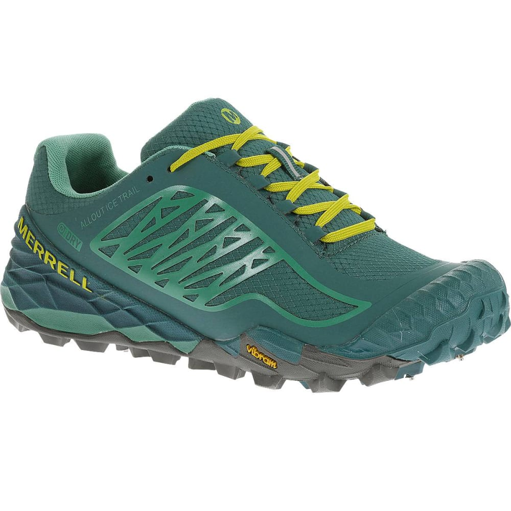Merrell All Out Terra Ice Waterproof Dragonfly/Bright Yellow Women