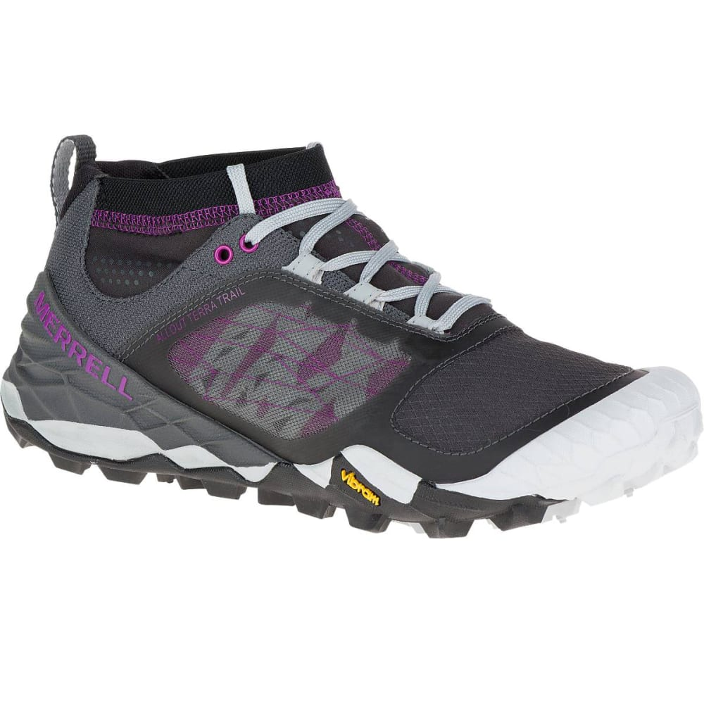 Merrell All Out Terra Trail Black Purple Trail Running Shoes