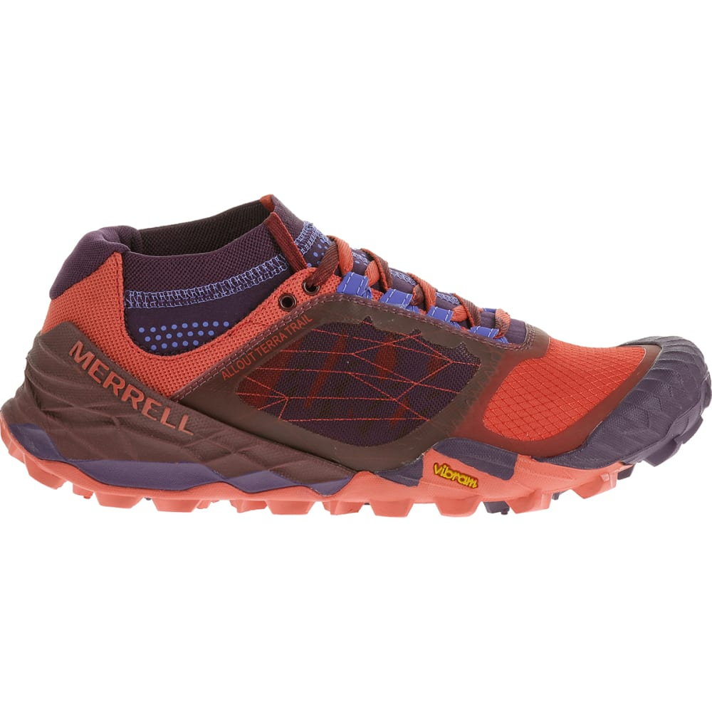 Merrell All Out Terra Women's Trail Running Shoes Wild Plum/red