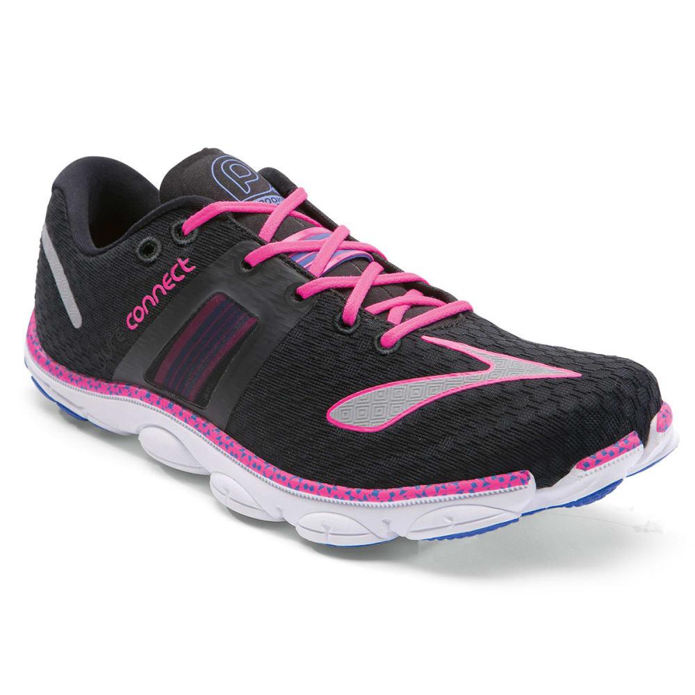 BROOKS Women's PureConnect 4 Minimalist Running Shoes, Black