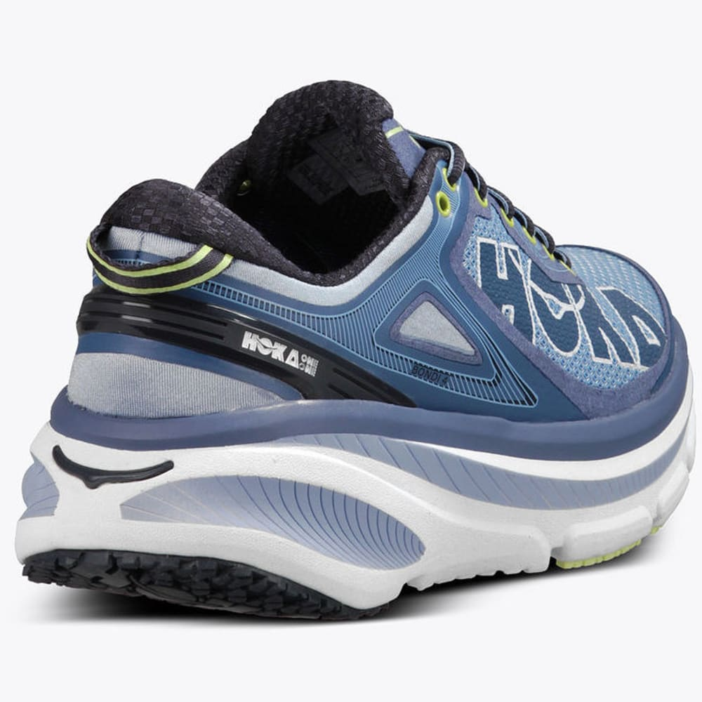 ... HOKA ONE ONE Women's Bondi 4 Running Shoes, Hydrangea/Sunny Lime  ...