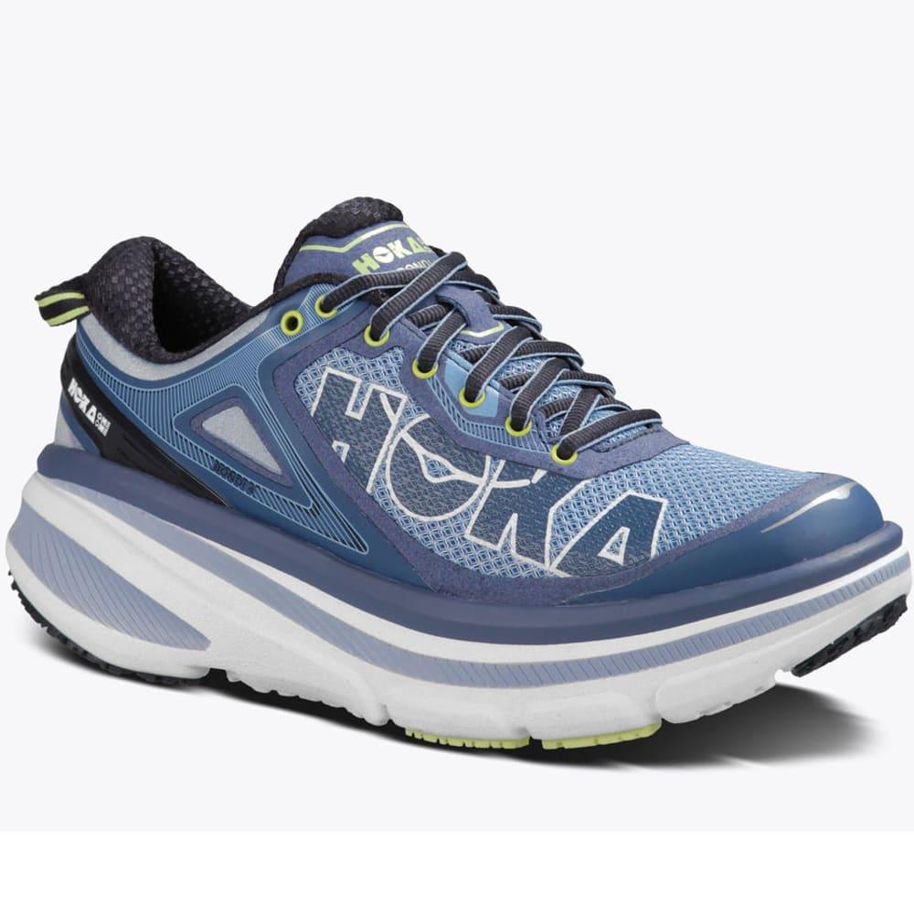 HOKA ONE ONE Women's Bondi 4 Running Shoes, Hydrangea/Sunny Lime - HYDRANGEA