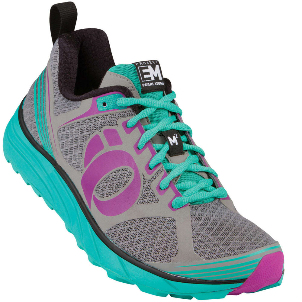 PEARL IZUMI Women's EM Trail M2 Trail Running Shoes - GREY/BLACK