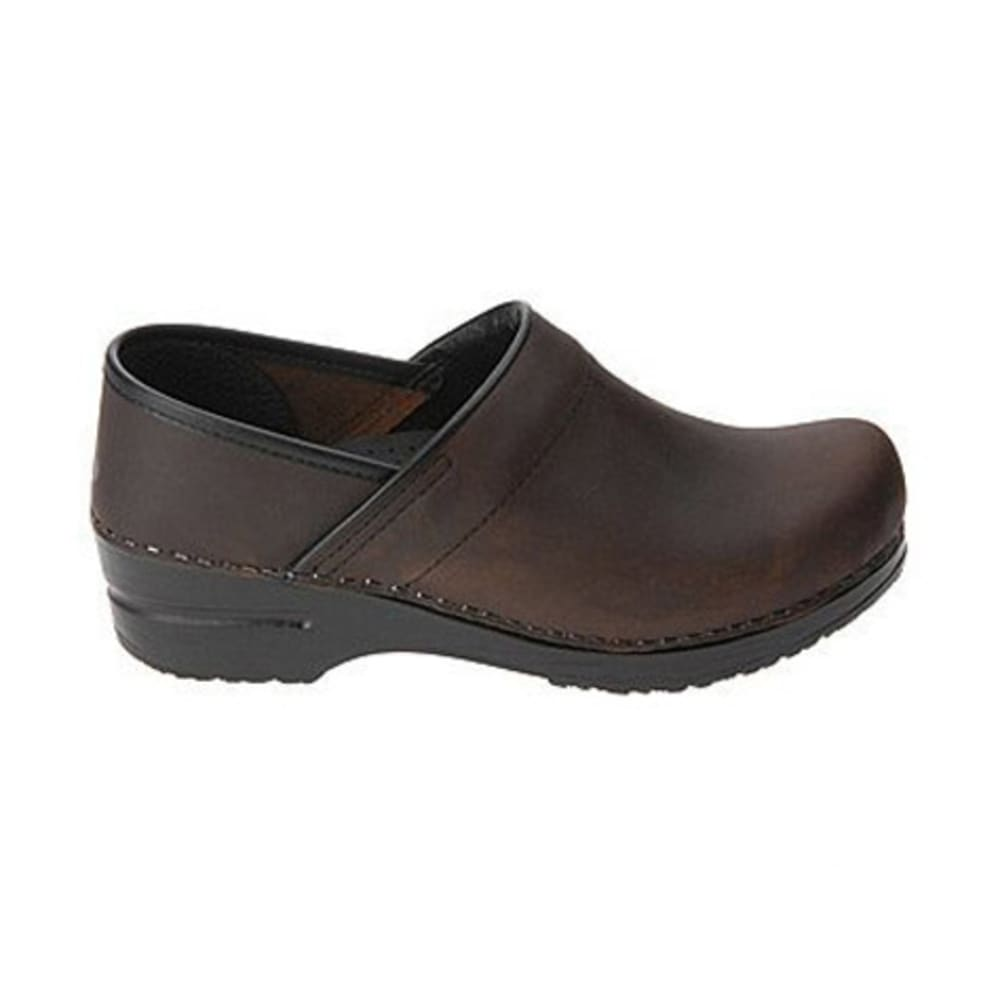DANSKO Women's Professional Clogs, Antique Brown Oiled - ANTIQUE BROWN OILED