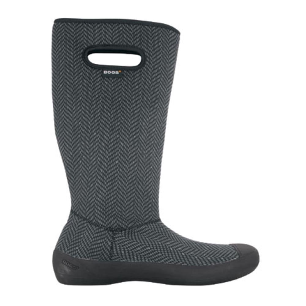 BOGS Women's Summit Boots, Black Herringbone - BLACK PTRND