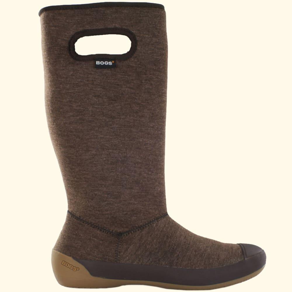 BOGS Women's Summit Boots, Black Herringbone - BROWN PTRND