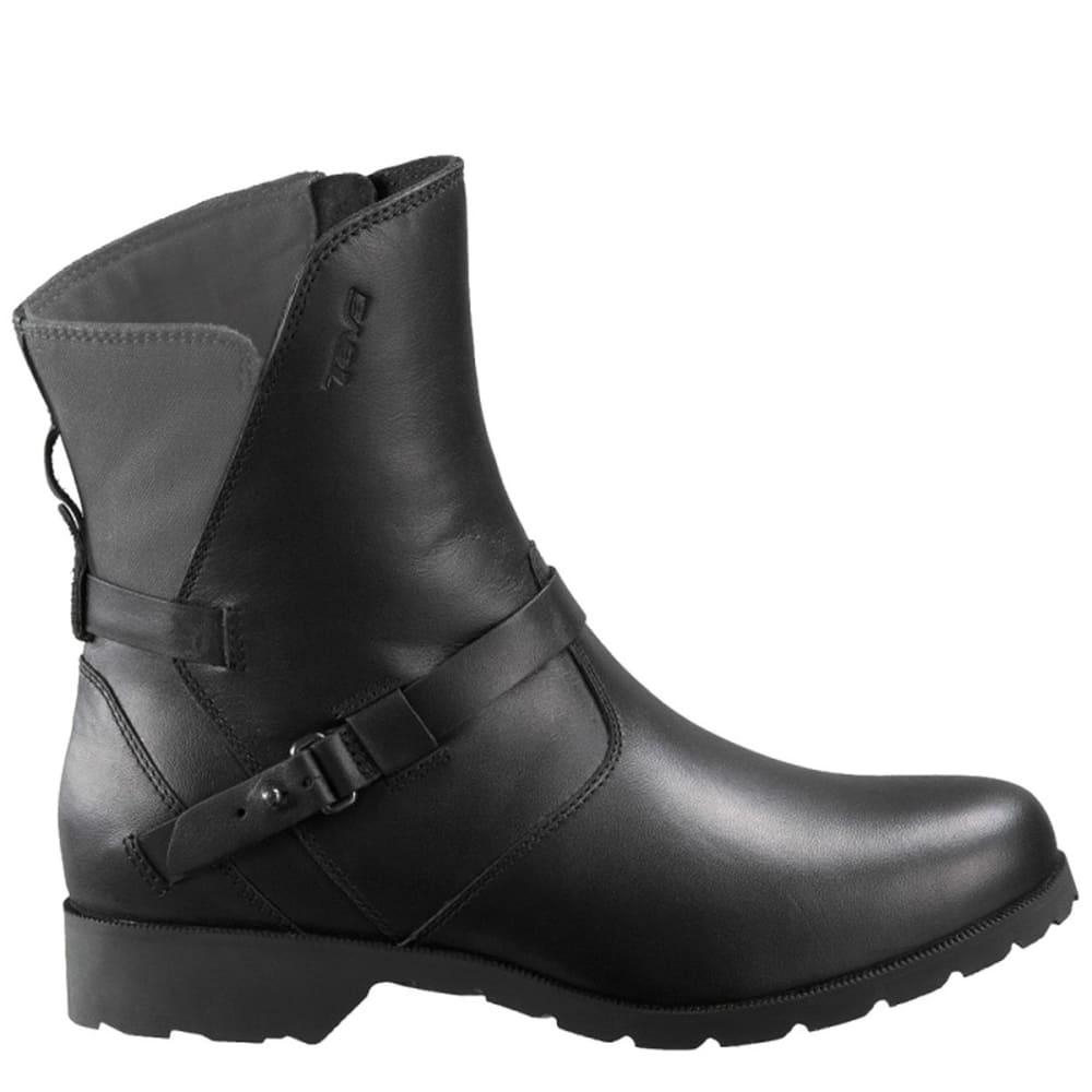 TEVA Women's De La Vina Low Boots, Black/Grey - BLACK