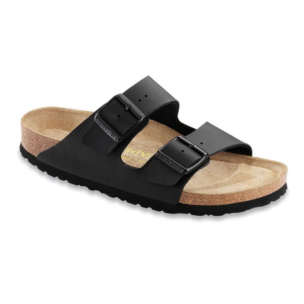 BIRKENSTOCK Women's Arizona Soft Sandals, Narrow, Black - BLACK