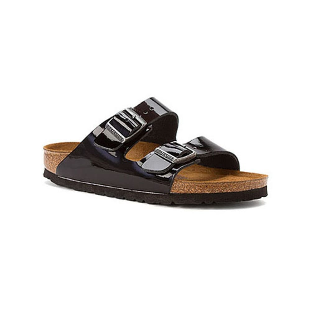 BIRKENSTOCK Women's Arizona Soft Sandals, Narrow, Black Patent - BLACK PATENT